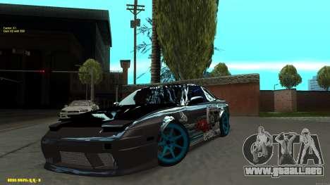 Nissan Silvia RPS13 CIAY para visión interna GTA San Andreas