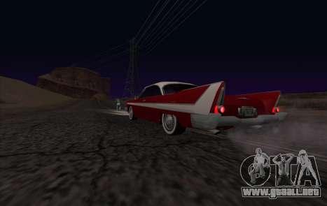 Plymouth Fury para GTA San Andreas vista hacia atrás