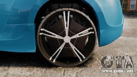 Nissan 370Z Tuning para GTA 4 vista hacia atrás
