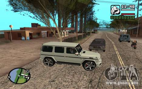 Mercedes-Benz G65 AMG para vista inferior GTA San Andreas