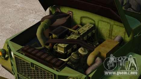 Militar básica del carro AM General M35A2 1950 para GTA 4 vista lateral