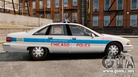 Chevrolet Caprice 1991 [ELS] v1 para GTA 4 left