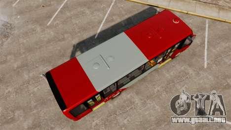 Mercedes-Benz Neobus Thunder LO-915 para GTA 4 vista hacia atrás