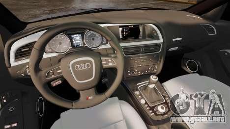 Audi S5 EmreAKIN Edition para GTA 4 vista interior