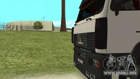 MAZ 5440 para la vista superior GTA San Andreas