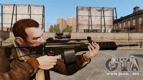 Rifle de asalto MG36 v3 H & K para GTA 4