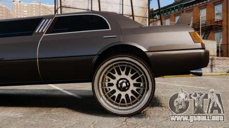 Limusina drag racing para GTA 4 vista hacia atrás