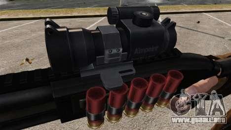 Escopeta táctica v1 para GTA 4 adelante de pantalla