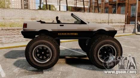 Futo Monster Truck para GTA 4 left