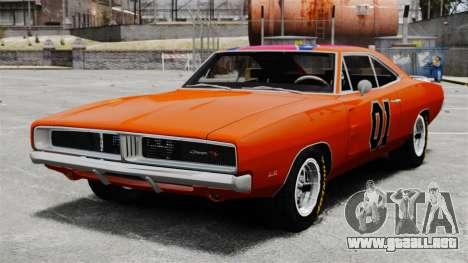 Dodge Charger 1969 General Lee v2 para GTA 4
