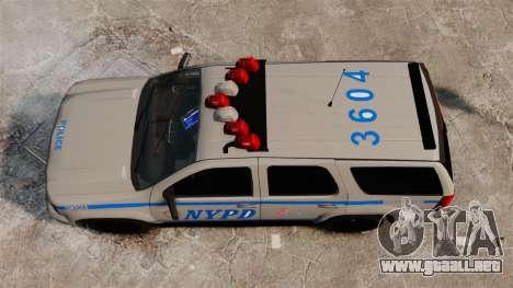 Chevrolet Tahoe 2007 NYPD [ELS] para GTA 4 visión correcta