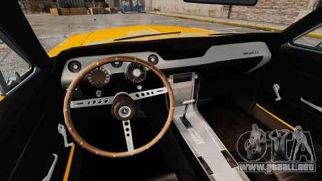 Ford Mustang 1967 Classic para GTA 4 vista lateral