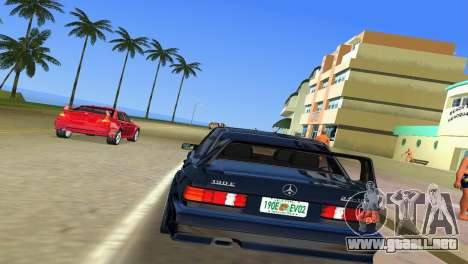 Mercedes-Benz 190E 1990 para GTA Vice City visión correcta