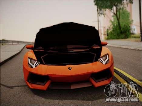 Lamborghini Aventador LP700 para vista inferior GTA San Andreas