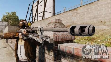 Rifle de francotirador Halo Reach SRS 99 para GTA 4 tercera pantalla