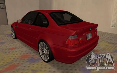 BMW M3 E46 2005 Body Damage para la visión correcta GTA San Andreas