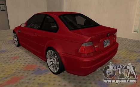 BMW M3 E46 2005 Body Damage para la visión correcta GTA San Andreas