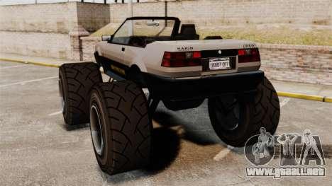 Futo Monster Truck para GTA 4 Vista posterior izquierda