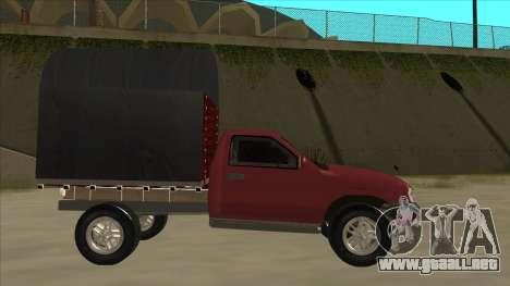 Chevrolet Luv 2.500 diesel para GTA San Andreas vista posterior izquierda