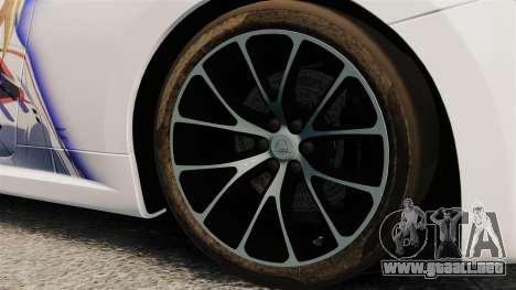 Maserati MC Stradale Infinite Stratos para GTA 4 vista hacia atrás
