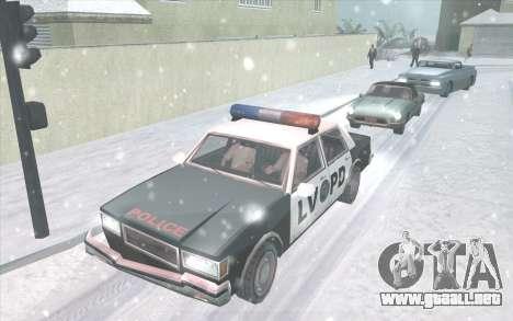Snow San Andreas 2011 HQ - SA:MP 1.1 para GTA San Andreas segunda pantalla