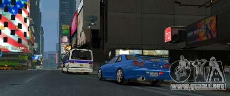 Nissan Skyline GTR-34 para GTA 4 left