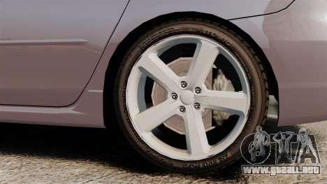 Mazda 3 Sport para GTA 4 vista hacia atrás