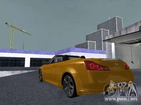 Infiniti G37 S Cabriolet para la visión correcta GTA San Andreas