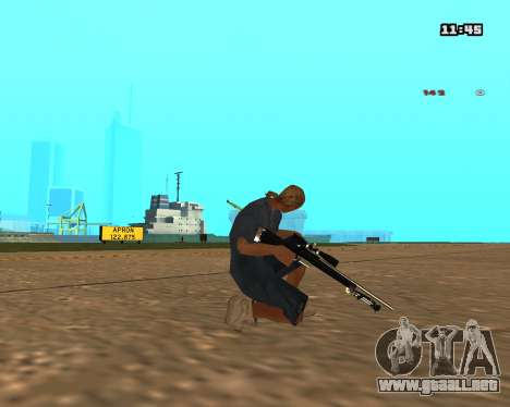 White Chrome Sniper Rifle para GTA San Andreas segunda pantalla