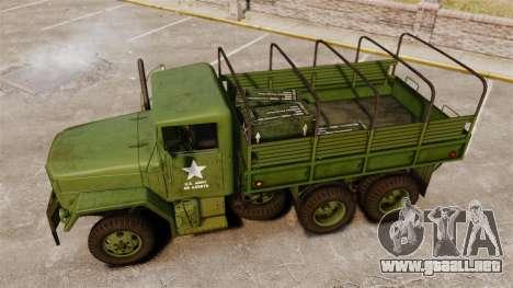 Militar básica del carro AM General M35A2 1950 para GTA 4 interior