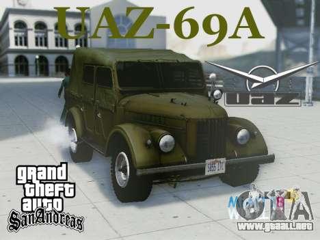 UAZ-69A para visión interna GTA San Andreas