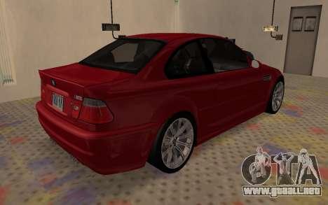 BMW M3 E46 2005 Body Damage para GTA San Andreas vista posterior izquierda