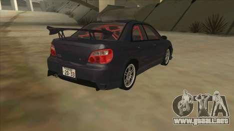 Subaru Impreza WRX STI Drift 2004 para la visión correcta GTA San Andreas