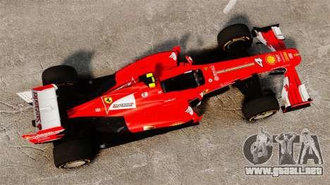Ferrari F138 2013 v2 para GTA 4 visión correcta