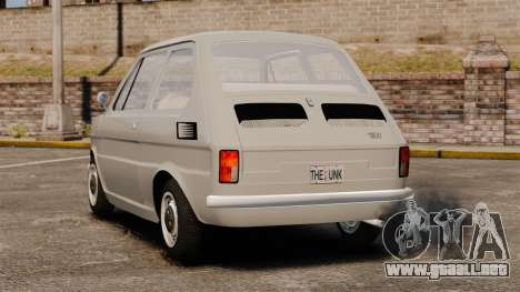 Fiat 126 v1.1 para GTA 4 Vista posterior izquierda