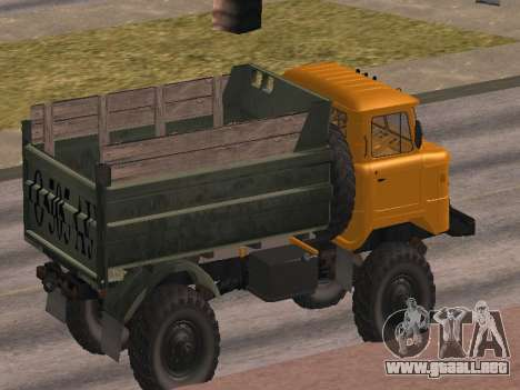 Camión de GAS-66 para vista inferior GTA San Andreas