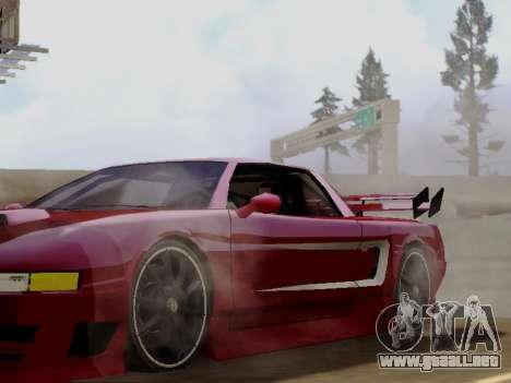 Infernus DoTeX para GTA San Andreas vista hacia atrás