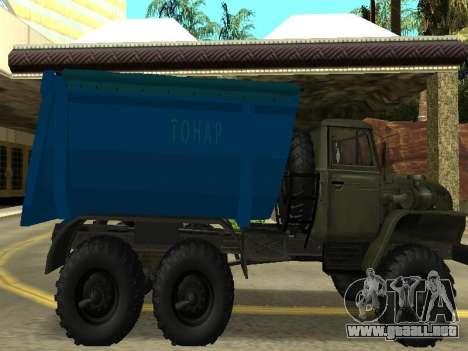 Ural 4320 Tonar para GTA San Andreas left