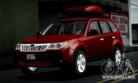 Subaru Forester XT 2008 v2.0 para visión interna GTA San Andreas