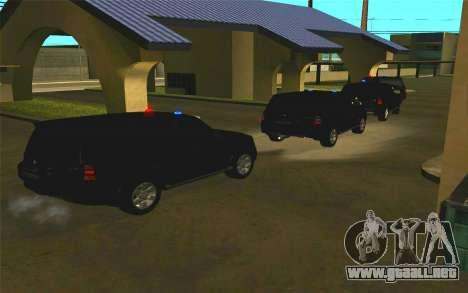 Mitsubishi Pajero para visión interna GTA San Andreas
