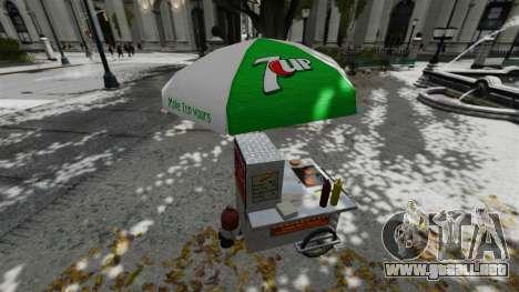 Los quioscos actualizados y carros calientes dog para GTA 4 sexto de pantalla