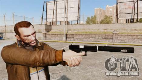 Glock 17 pistola autocargable v1 para GTA 4