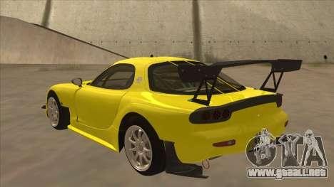 Mazda RX7 FD3S RE Amemyia Touge Style para GTA San Andreas vista hacia atrás