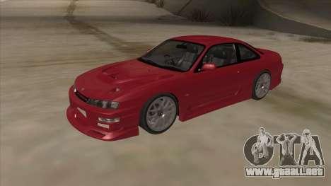 Nissan Silvia S14 RB26DETT Black Revel para GTA San Andreas left
