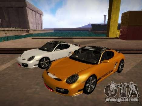 Porsche Cayman R 2007 para GTA San Andreas left