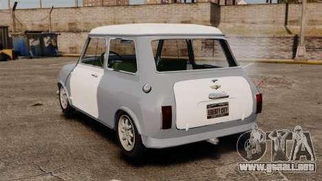 Mini Cooper S 1968 para GTA 4 Vista posterior izquierda