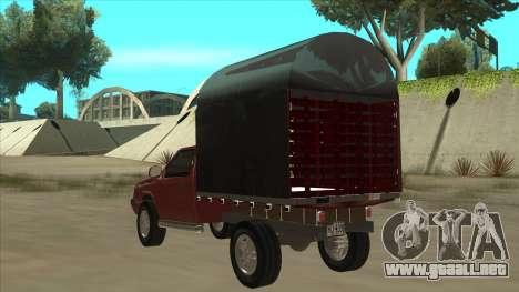 Chevrolet Luv 2.500 diesel para GTA San Andreas vista hacia atrás