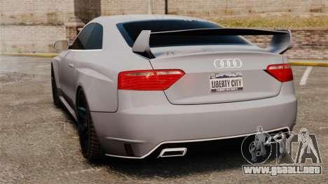 Audi S5 EmreAKIN Edition para GTA 4 Vista posterior izquierda