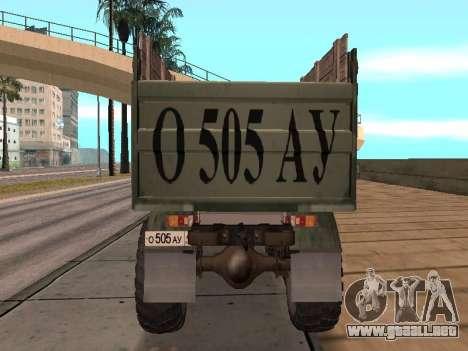 Camión de GAS-66 para visión interna GTA San Andreas