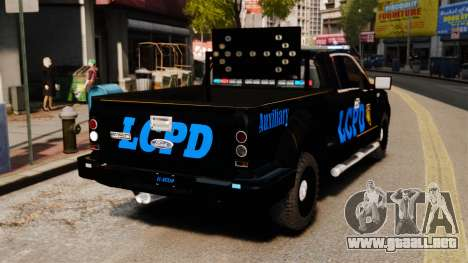 Ford F-150 v3.3 LCPD Auxiliary [ELS & EPM] v2 para GTA 4 Vista posterior izquierda